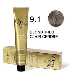 Coloration Oro thérapy n°9.1 Blond très clair cendré