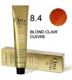 Coloration Oro thérapy n°8.4Blond clair cuivré