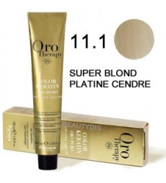 Coloration Oro thérapy n°11.1Super blond platine cendré