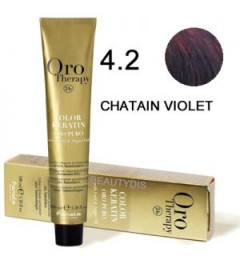 Coloration Oro thérapy n°4.2Chatain violet
