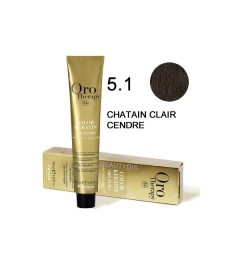 Coloration Oro thérapy n°5.1chatain clair cendré