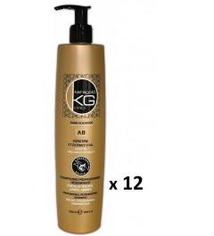 Lot de 12 Shampoings Keragold AB 500ml Kératine/Extrait d'ail