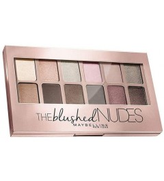 Coffret palette fards à paupières The Blushed Nudes+Pinceau applicateur fards à paupières