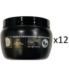 Colissage de 12 masque Keragold CC Keratin et huile de ricin