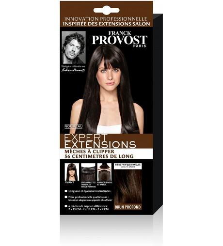 FRANCK PROVOST - Expert Extensions 6 Mèches à Clipper Brun Profond 56 cm