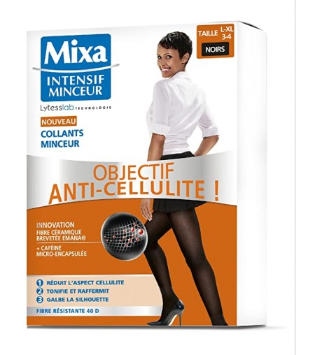 Mixa Collants Minceur Objectif Anti-Cellulite Intensif Minceur L-XL