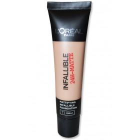 Fond de Teint Matifiant Infaillible 24H de L'Oréal Paris Vanilla 11