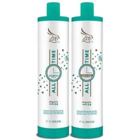 Lissage Brésilien à la Kératine All TIME Organic BIO Professionnels (0 FORMOL) Masque & Shampoing 1 L de chaque