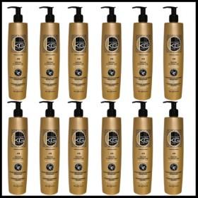COLLISAGE de 12 Shampoings Keragold AB 500ml Kératine/Extrait d'ail