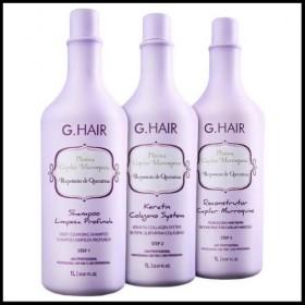 G.HAIR Lissage Plastica Capilar Marroquina 3x1000ml