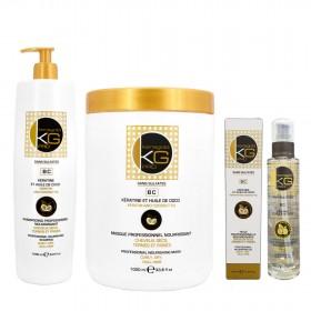 KERAGOLD - Traitement (Masque 1000ml + Shampoing 1000ml + Serum 100ml)
