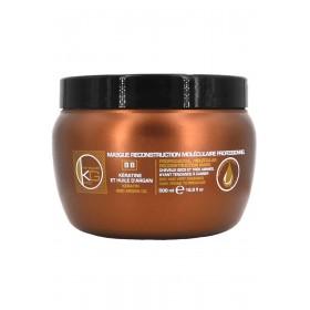 Masque reconstructeur - Kératine & huile d'argan - Cheveux secs & abîmés - 500 ml