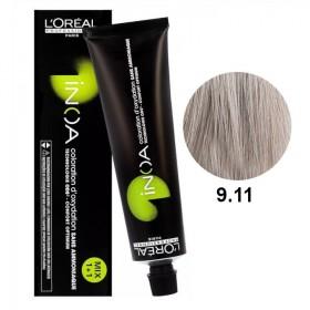 Tube Coloration Inoa 9.11 Blond Très Clair Cendré Profond L'Oréal 60 ML