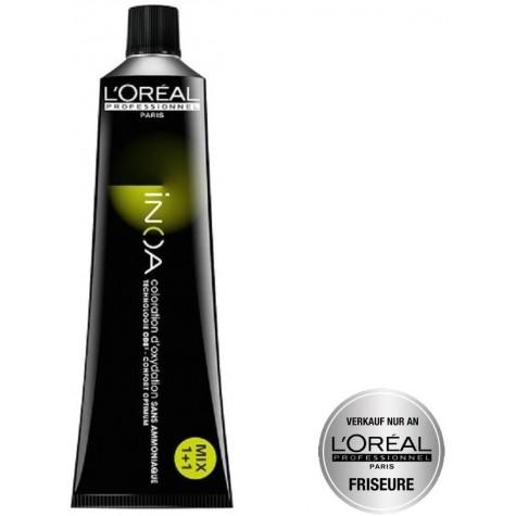 Tube Coloration Inoa 5.45 Chatain Clair Cuivré Acajou L'Oréal 60 ML