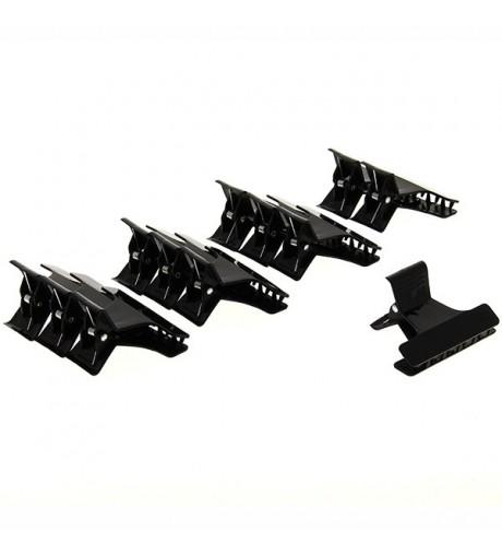 Petites pinces croco 6cm x12 Noir